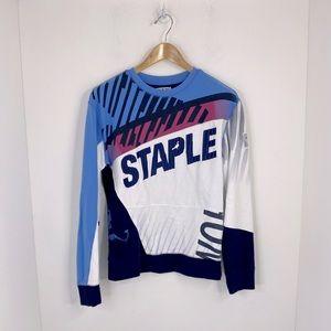 Staple Terry Cotton Crewneck Pullover Sweatshirt